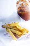 Homemade French Fries with Ketchup Royalty Free Stock Image