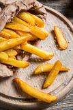 Homemade French fries made ​​from potatoes Royalty Free Stock Photos