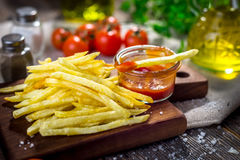 Homemade french fries Royalty Free Stock Image