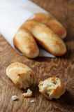 Homemade french mini baguettes Stock Photo