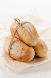 Homemade French mini baguettes Stock Photography