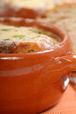 Homemade French Onion Soup Stock Photography