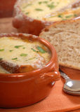 Homemade French Onion Soup Royalty Free Stock Photography