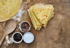 Homemade french pancakes Royalty Free Stock Images