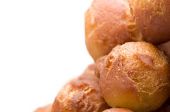 Homemade fresh donut, doughnut on white background. Royalty Free Stock Image