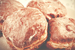 Homemade fresh donuts, doughnuts. Royalty Free Stock Images