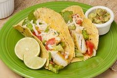 Homemade fresh fish tacos Royalty Free Stock Photography