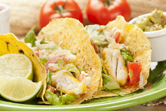 Homemade fresh fish tacos Stock Images