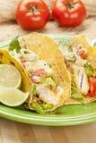 Homemade fresh fish tacos Stock Photography