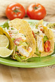 Homemade fresh fish tacos Royalty Free Stock Photography