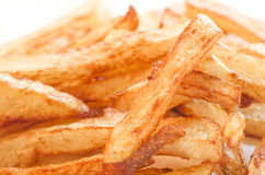 Homemade Fresh French fries, chips. Macro. Stock Photos