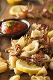 Homemade Fresh Grilled Calamari Stock Photos