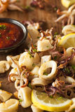 Homemade Fresh Grilled Calamari Royalty Free Stock Images