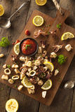 Homemade Fresh Grilled Calamari Royalty Free Stock Photography