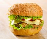 Homemade fresh hamburger Royalty Free Stock Images