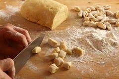 Homemade gnocchi Stock Photo
