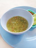 Homemade, fresh lime sauce Royalty Free Stock Images