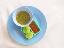 Homemade, fresh lime sauce Stock Photo