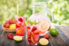 Homemade Fresh Pink Lemonade Stock Photo