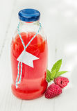 Homemade fresh raspberry juice Stock Images