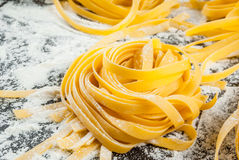 Homemade fresh raw pasta Stock Photography