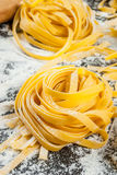 Homemade fresh raw pasta Royalty Free Stock Photos