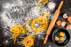 Homemade fresh raw pasta Royalty Free Stock Photo