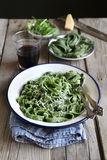 Homemade fresh spinach pasta Stock Image