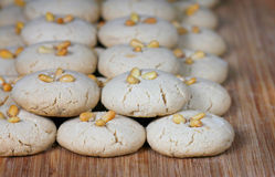 Homemade fresh tahini cookie Stock Photos