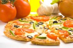 Homemade with fresh tomato olive mushroom cheese Royalty Free Stock Image