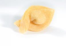 Homemade fresh tortellino,isolated on white background. Royalty Free Stock Photo