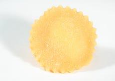 Homemade fresh tortellino,isolated on white background. Royalty Free Stock Photos