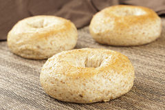Homemade Fresh Whole Grain Bagel Stock Photo