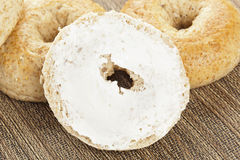 Homemade Fresh Whole Grain Bagel Royalty Free Stock Images
