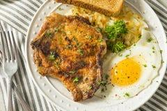 Homemade Fried Breakfast Pork Chops Stock Image