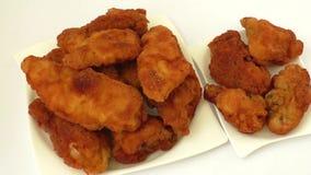 Homemade fried chicken schnitzel stock video