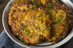 Homemade Fried Corn Fritter Stock Image