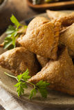 Homemade Fried Indian Samosas Stock Images