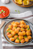 Homemade fried mini croquettes Royalty Free Stock Images