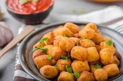 Homemade fried mini croquettes Stock Photography