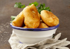 Homemade fried pies with potatoes Stock Image