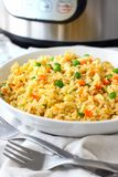 Homemade Fried Rice made in Instant Pot. Instant Pot pressure cooker authentic fried rice Stock Photo