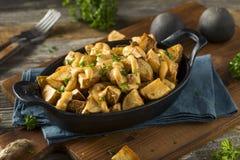 Homemade Fried Spanish Patatas Bravas Stock Photo