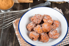 Homemade fritters with sugar Royalty Free Stock Photos