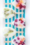 Homemade frozen popsicles Royalty Free Stock Photos
