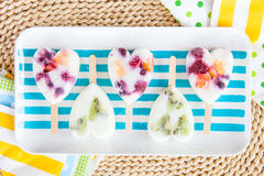 Homemade frozen popsicles Royalty Free Stock Image