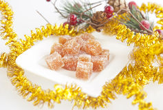 Homemade fruit candy for Christmas Stock Photos