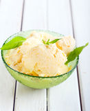 Homemade fruit ice cream. In a bowl Stock Photography
