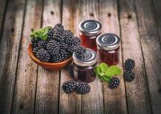 Homemade fruit jam Stock Photos