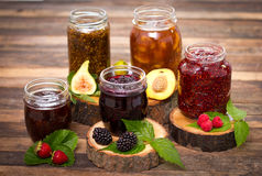 Homemade fruit jam in the jar Royalty Free Stock Image